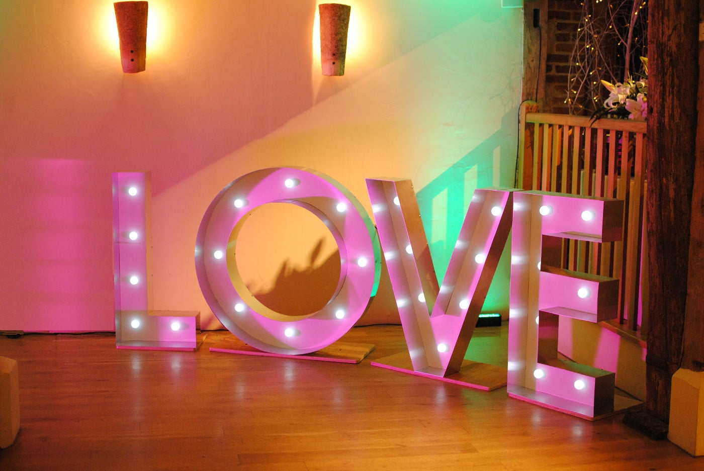 UK best wedding DJ sussex london party LED lightup love