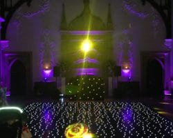 Wedding DJ LED uplighting mood lighting dance floor hire Sussex London